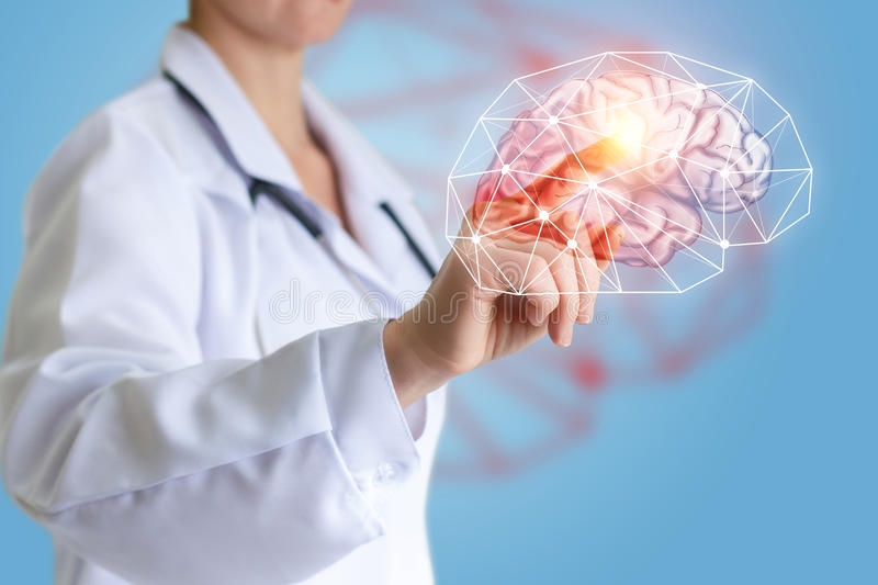 Treatment of human brain . royalty free stock photography