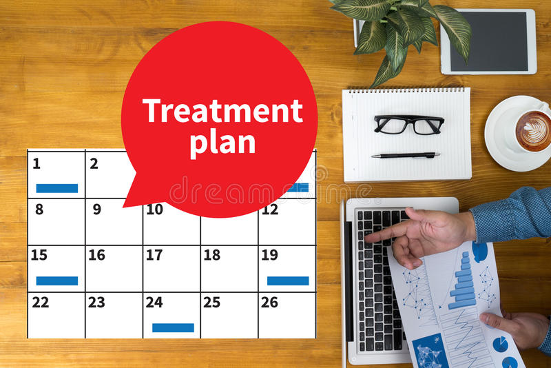 Treatment plan stock images