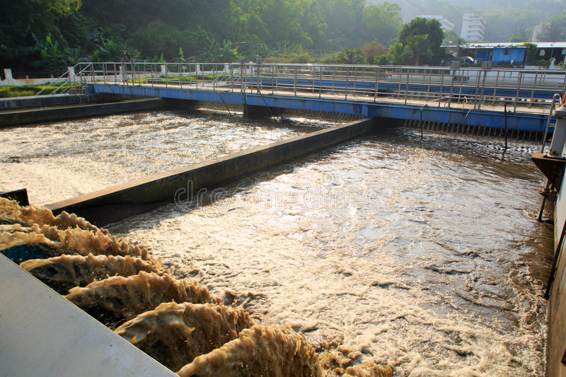 Treatment Plant. Sewage treatment plant factory in China stock photos