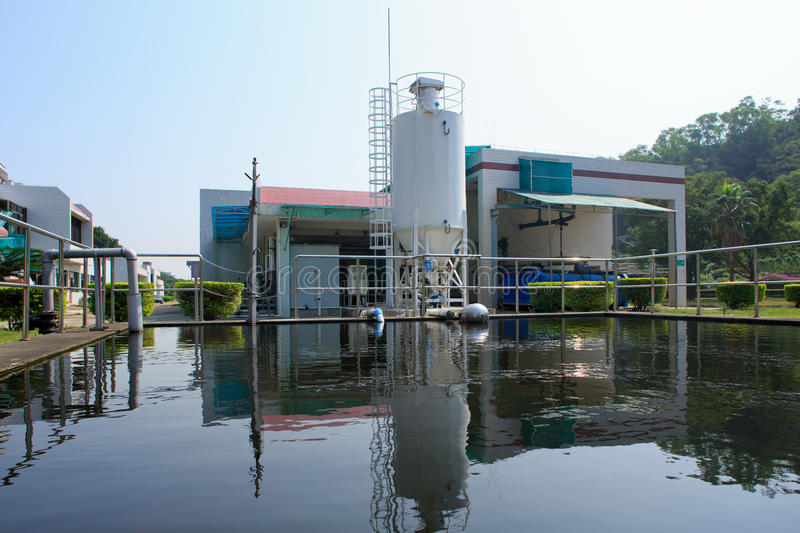 Treatment Plant. Sewage treatment plant factory in China royalty free stock photography