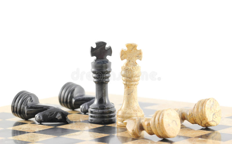 Treaty. Two opposing leaders lay down their arms, concept royalty free stock photo