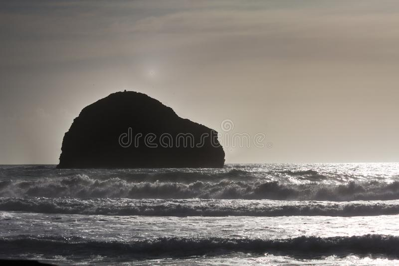 Trebarwith - sunset - II - Cornwall - UK royalty free stock photos
