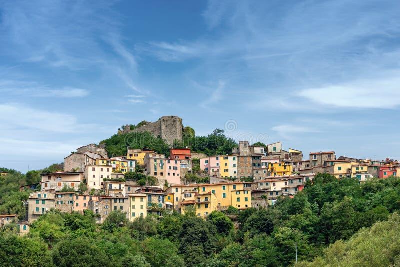 Trebiano Magra - kleines Dorf in Ligurien Italien lizenzfreies stockfoto