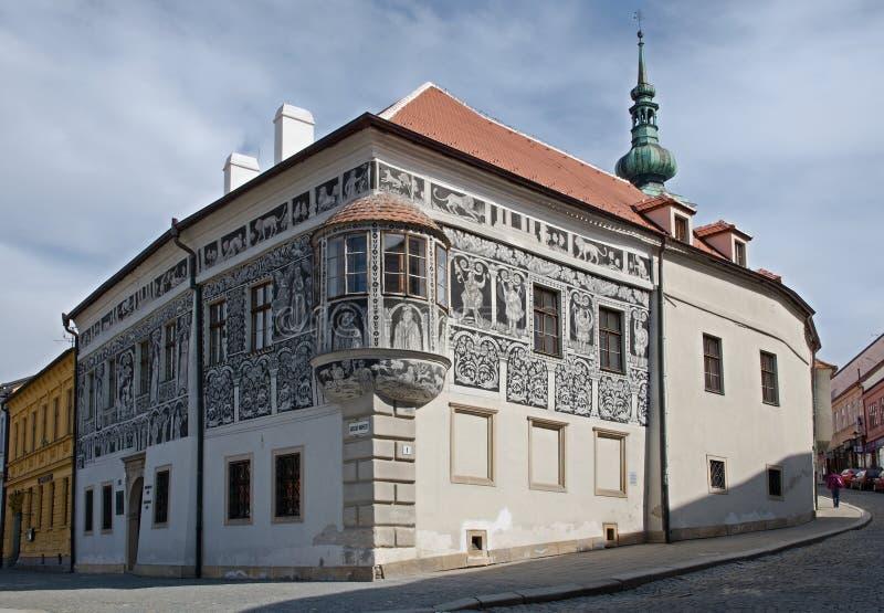 Trebic Tjeckien royaltyfria foton