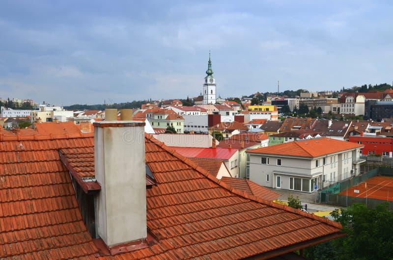 Trebic Tjeckien arkivbilder