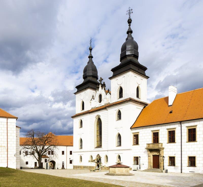 Trebic Tjeckien royaltyfria bilder