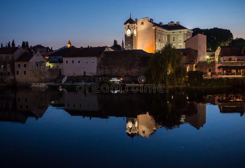 Trebinje in Bosnia. Old Town in Trebinje city, Bosnia and Herzegovina stock photo