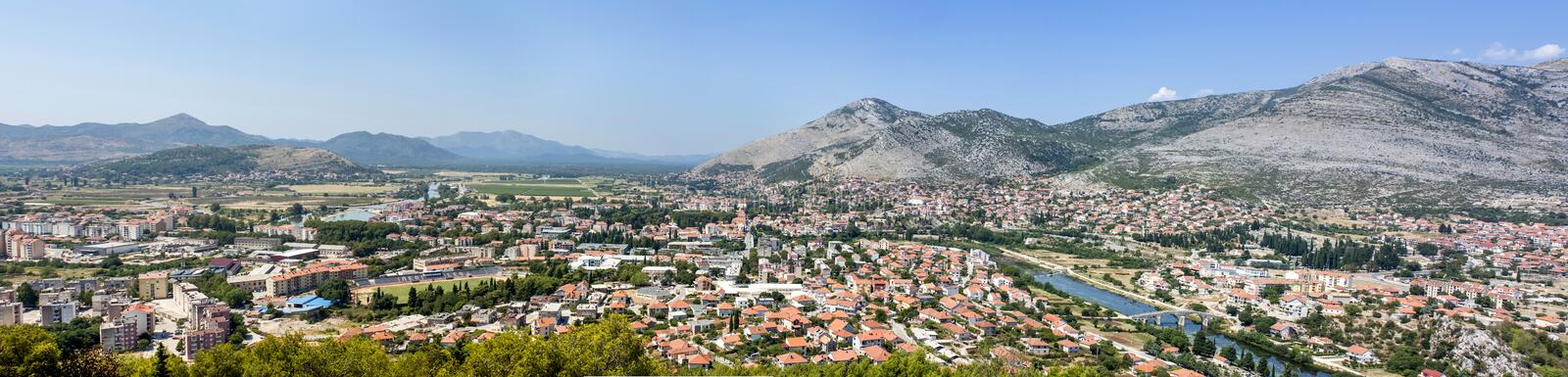 Trebinje, Bosnia. Panoramic composition at high res royalty free stock photos