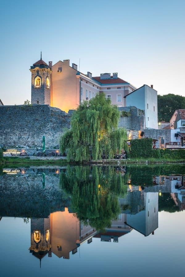 Trebinje, una città in Bosnia-Erzegovina immagini stock