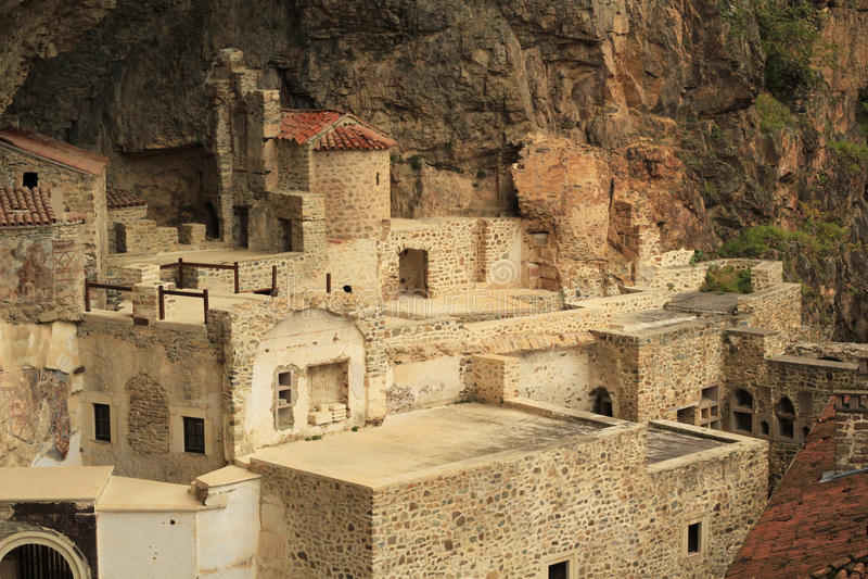 TREBISONDA, TURCHIA - Sumela Monastery fotografia stock libera da diritti