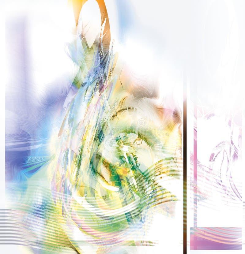 treble нот clef абстрактного искусства цифровой иллюстрация вектора