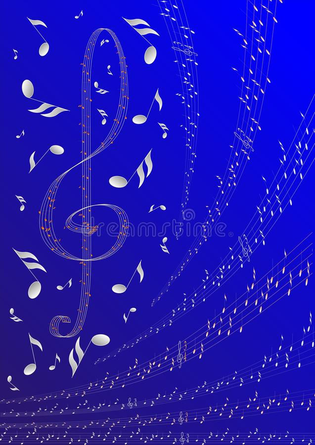 Download Treble clef stock vector. Image of notes, song, musical - 23624088