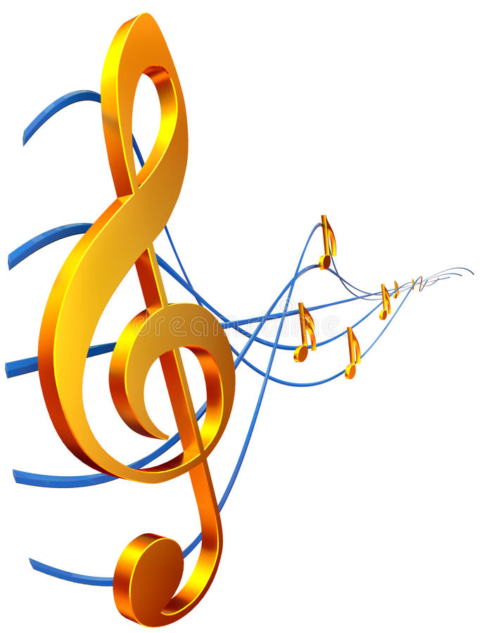 Treble clef vector illustration