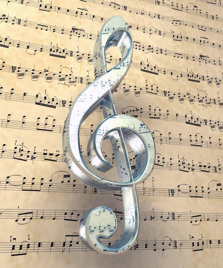 Download Treble clef stock illustration. Image of clefs, instrumental - 2771155