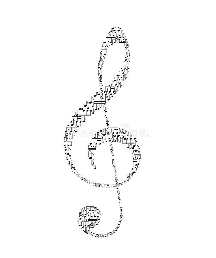 Download Treble clef stock vector. Illustration of figure, illustration - 28255266