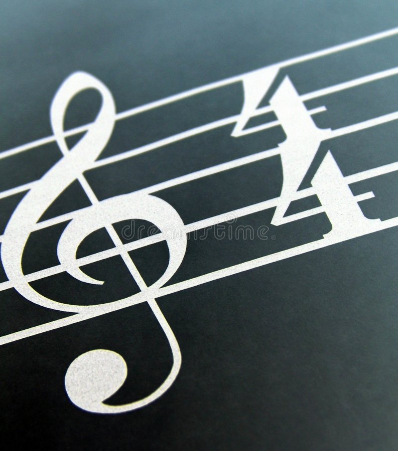 Download Treble Clef stock photo. Image of blue, style, note, music - 2949758