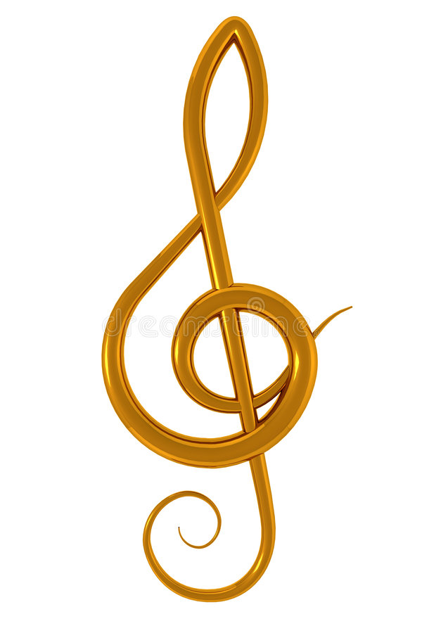Download Treble clef stock illustration. Image of classical, tunes - 7391457