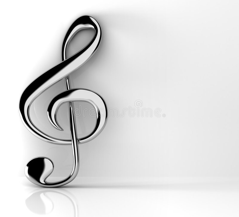 Download Treble clef stock illustration. Illustration of audio - 8875974