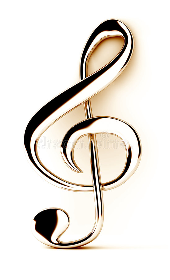 Download Treble clef stock illustration. Image of background, clef - 9077131