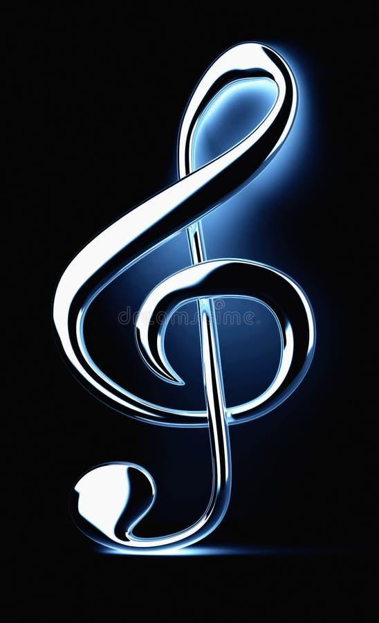Download Treble clef stock illustration. Illustration of note, black - 9222877