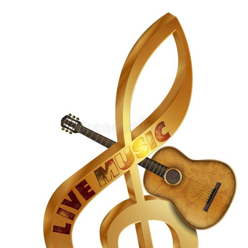 Treble clef gitara akustyczna zdjęcia royalty free