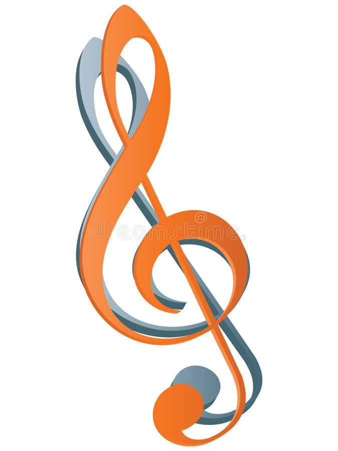 Treble clef icon. Vector illustration stock illustration