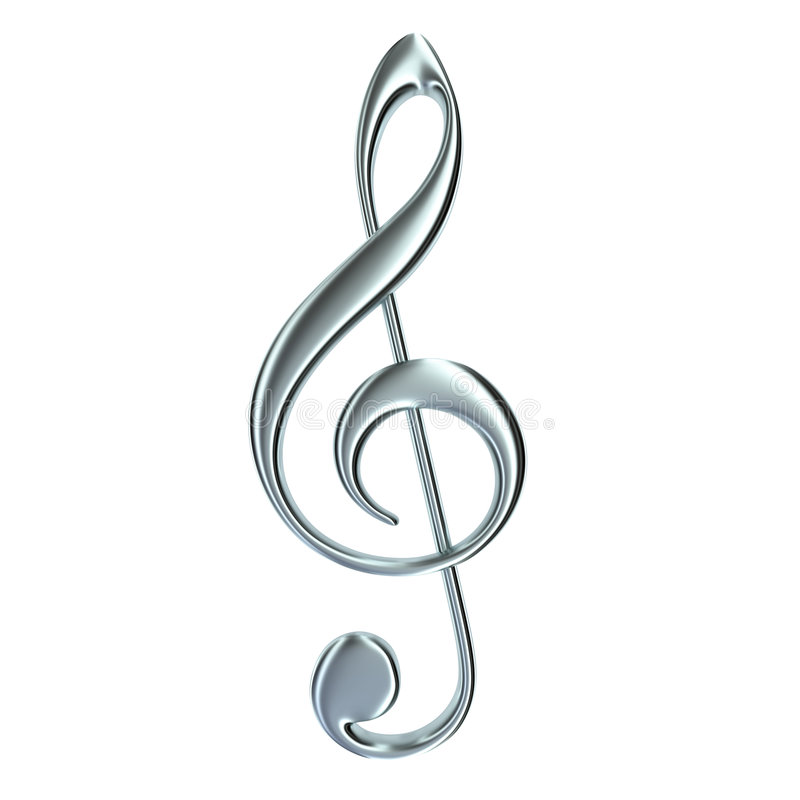Download Treble clef isolated stock illustration. Illustration of element - 8519999