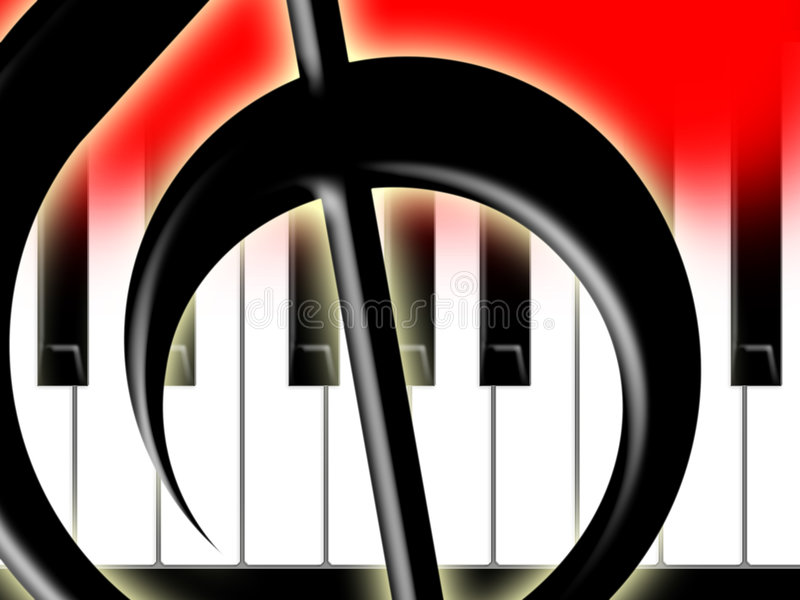 Download Treble Clef And Keys Of The Piano Stock Images - Image: 6588054