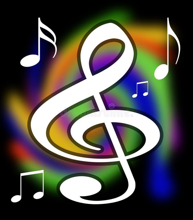 Treble Clef Music Notes Illustration royalty free illustration