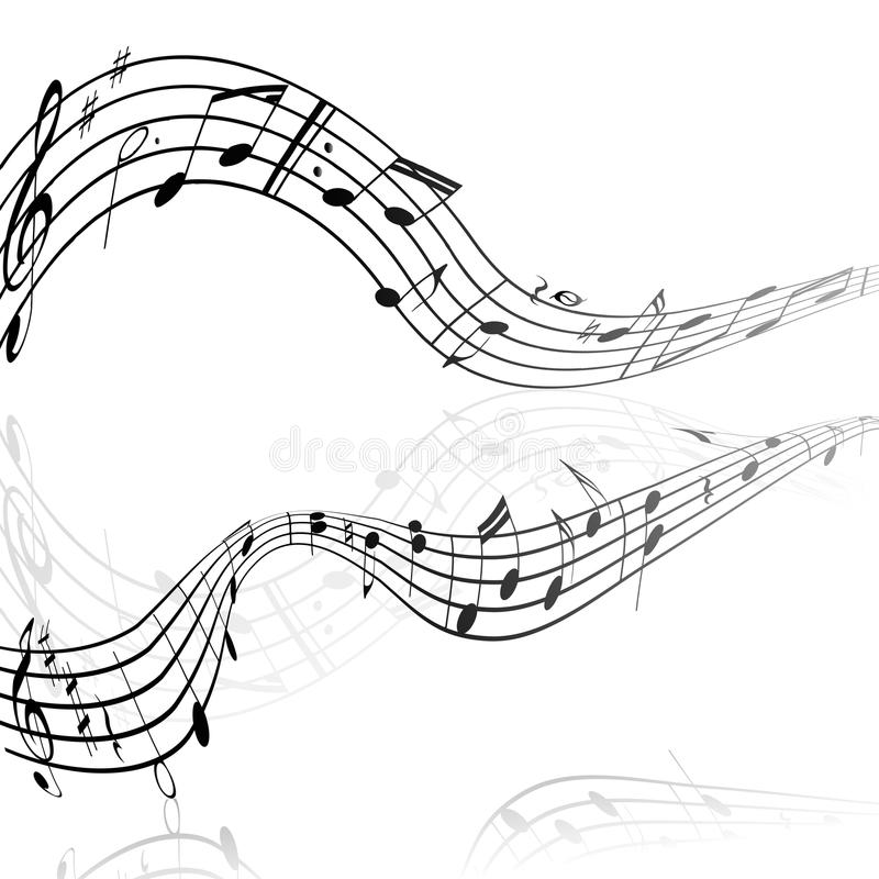Treble clef musical signs on a white background royalty free illustration