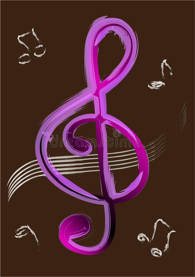 Download Treble clef Vector stock vector. Image of banner, billboard - 25643050