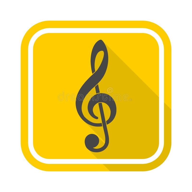 Treble clef vector icon. Vector icon vector illustration