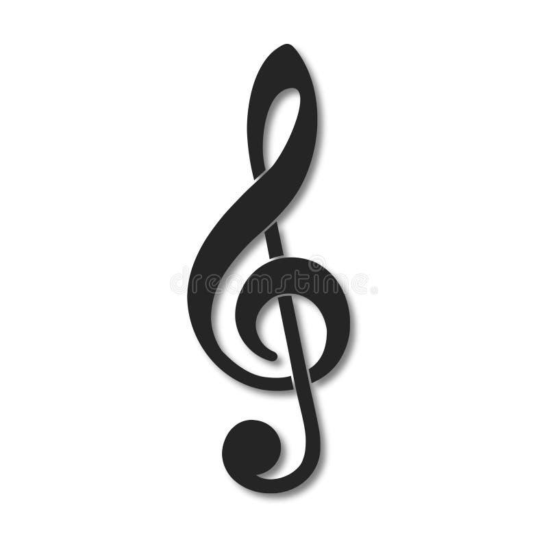 Treble clef vector icon. Vector icon royalty free illustration