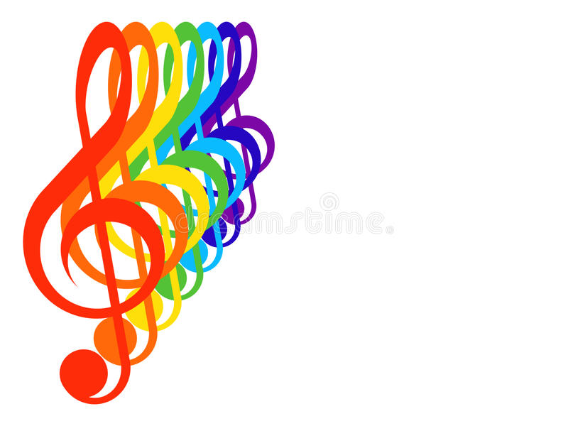 Download Treble clefs stock illustration. Image of music, treble - 14967546