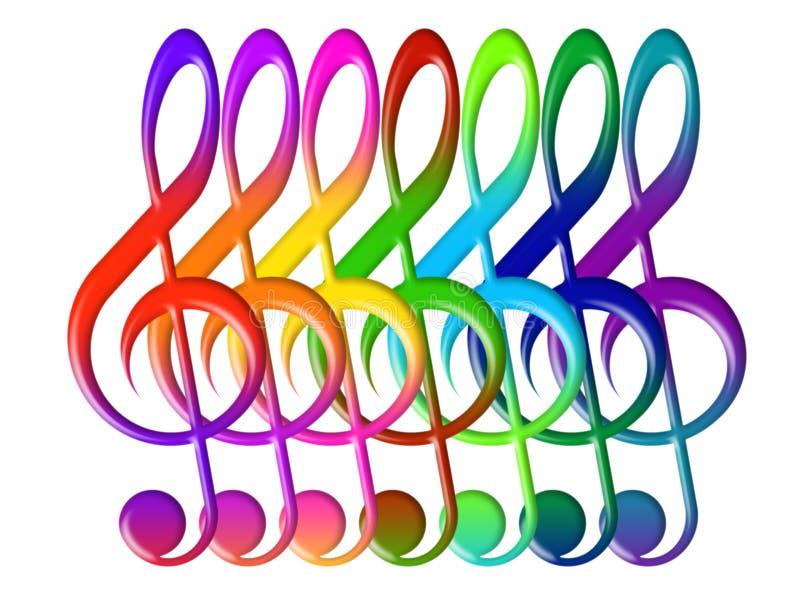 Download Treble clefs иллюстрация штока. иллюстрации насчитывающей clef - 18385953