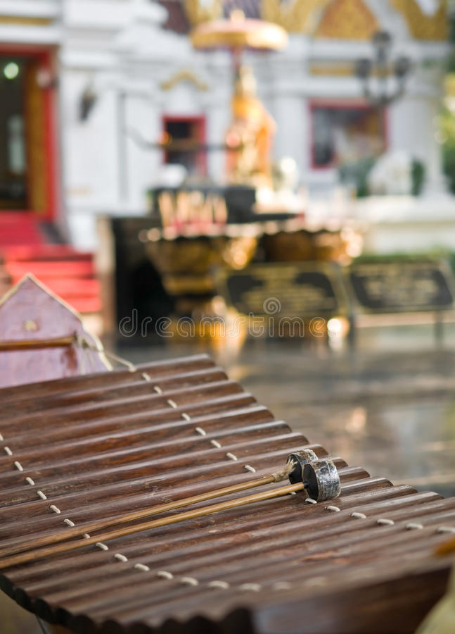 Treble musical gamelan tajlandzki obrazy stock