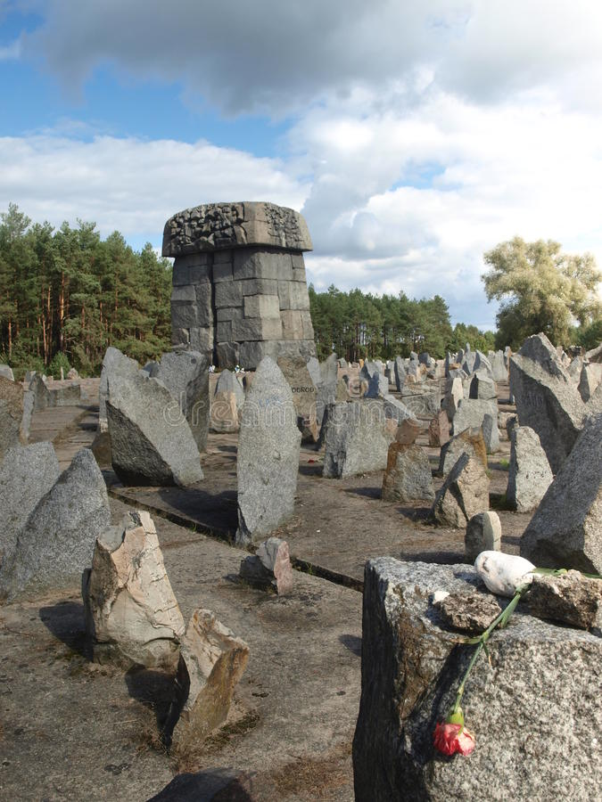 Treblinka Death Camp - crematory. A sight at Treblinka German Nazi Death Camp - crematory. Camp was totally destroyed but stones were rearranged after the war stock image