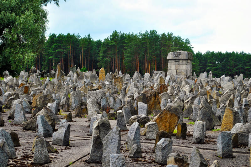Treblinka death camp monument. In Poland, world war II monument stock images