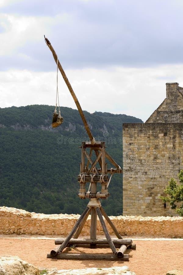 Trebuchet dans Castelnaud, France images libres de droits