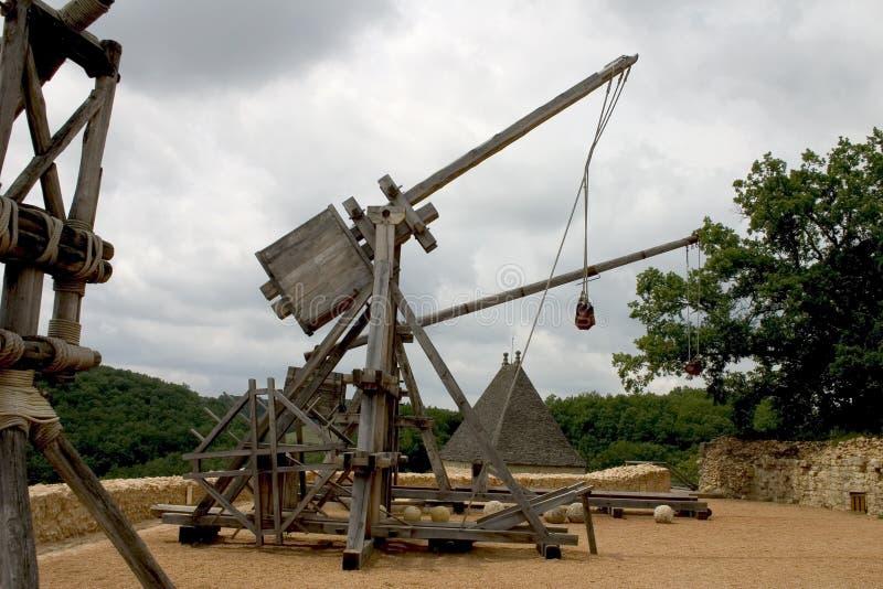 Download Trebuchets In Castelnaud, France Stock Image - Image: 1199573
