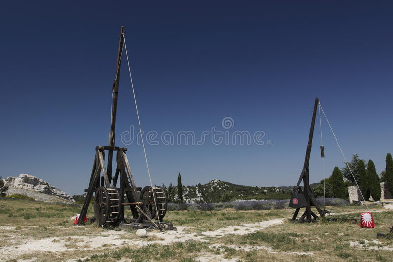 Trebuchets En Les Baux De Provence Foto de archivo