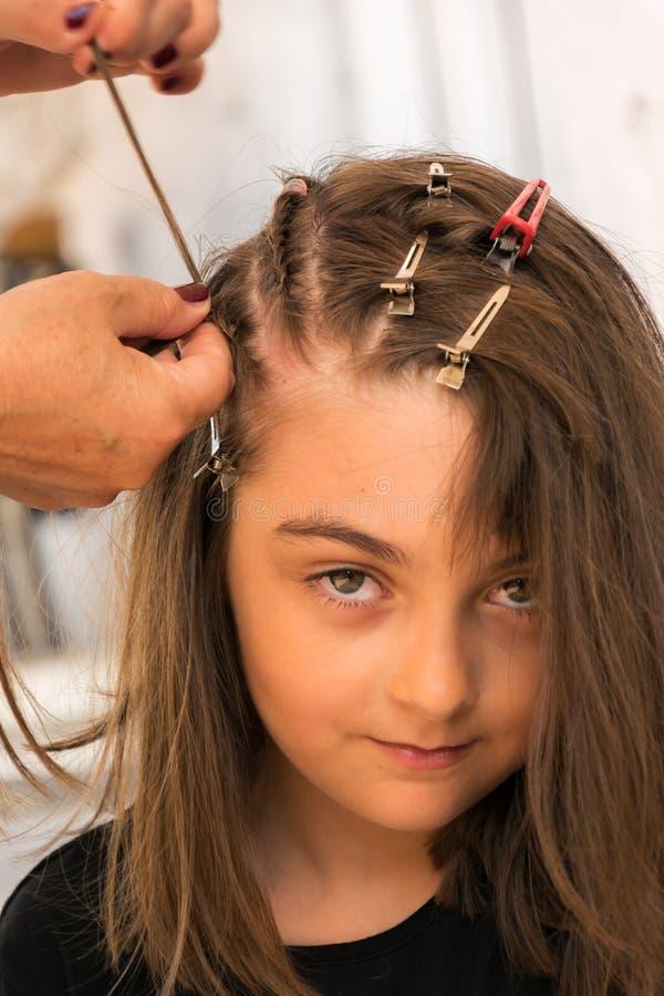 Trecce dei capelli fotografie stock libere da diritti