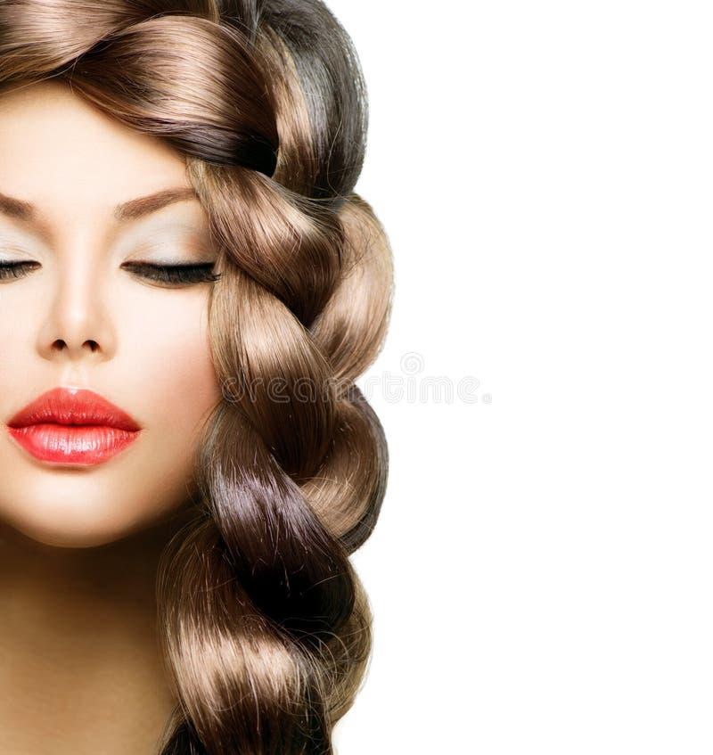 Treccia dei capelli immagini stock