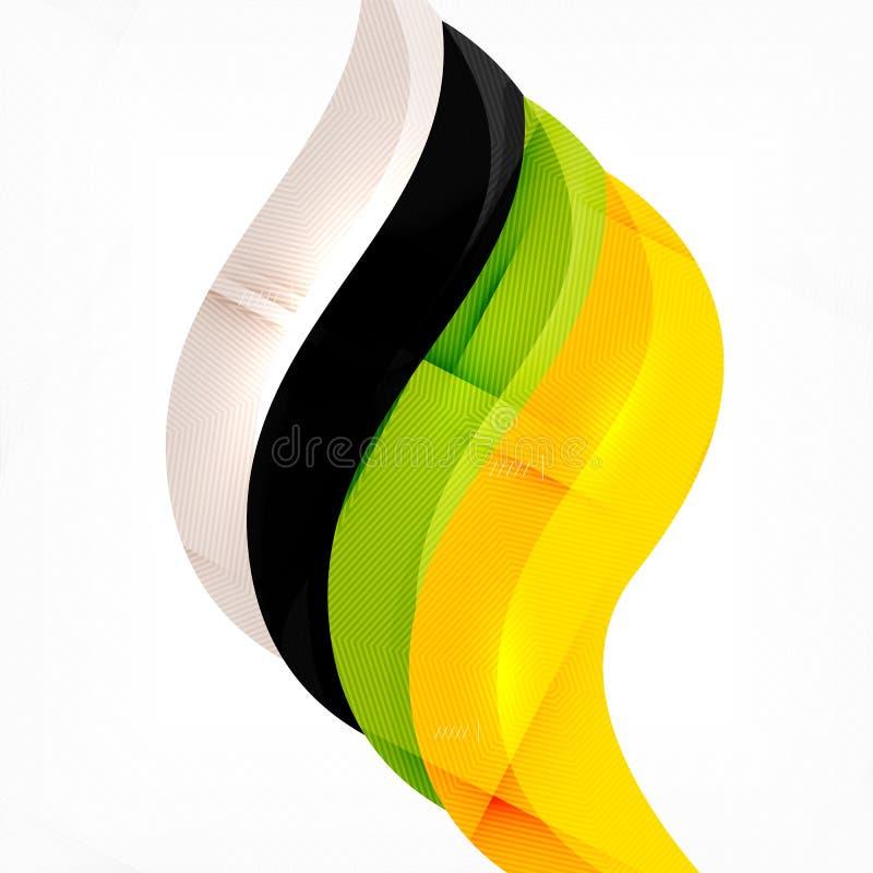 Treccia futuristica che guarda il fondo dell'onda illustrazione vettoriale