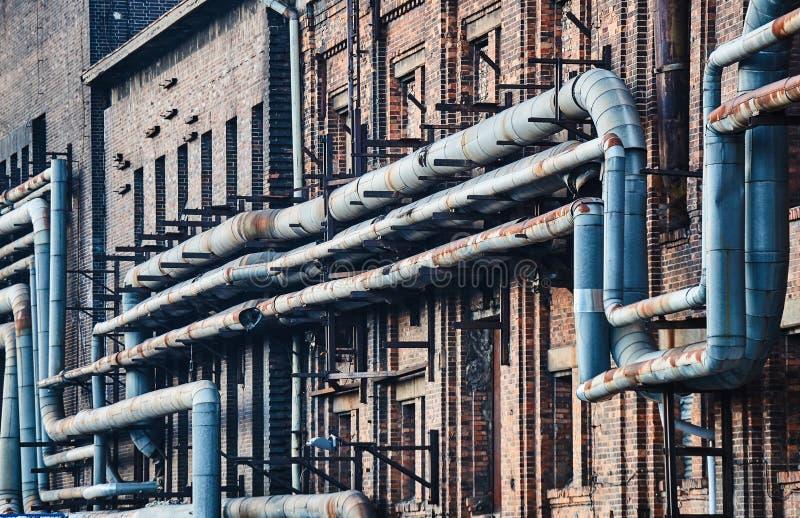 Trecho de uma fábrica do tijolo fotografia de stock royalty free