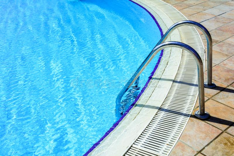 Treden aan de pool stock foto's
