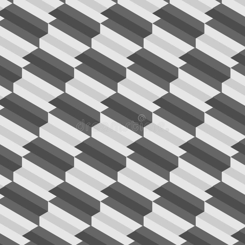 Treden die patroon herhalen Monochromatische abstracte achtergrond vector illustratie