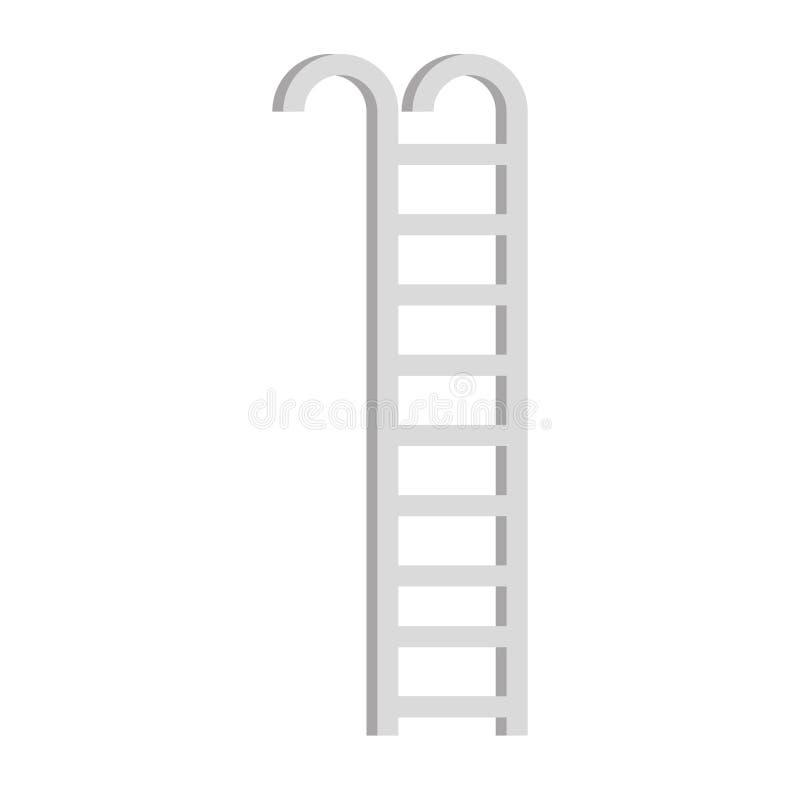 Treden draagbaar geïsoleerd pictogram royalty-vrije illustratie