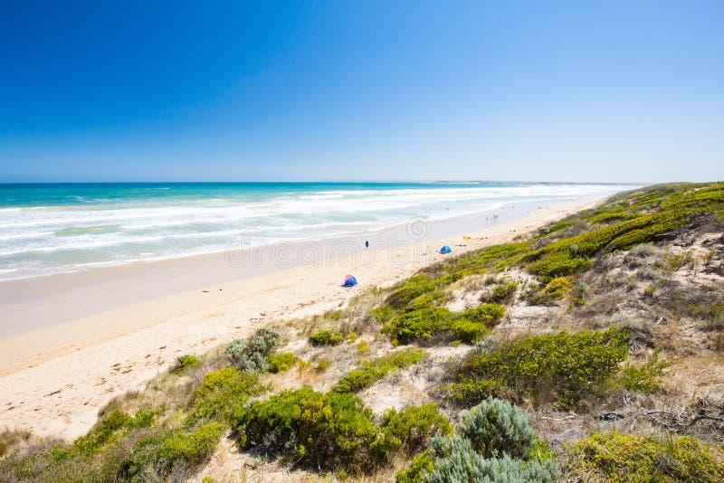 Tredicesima spiaggia in teste di Barwon immagini stock libere da diritti