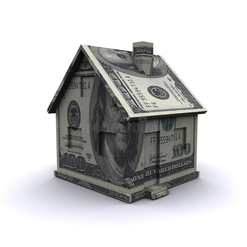 Tredimensionellt hus stock illustrationer